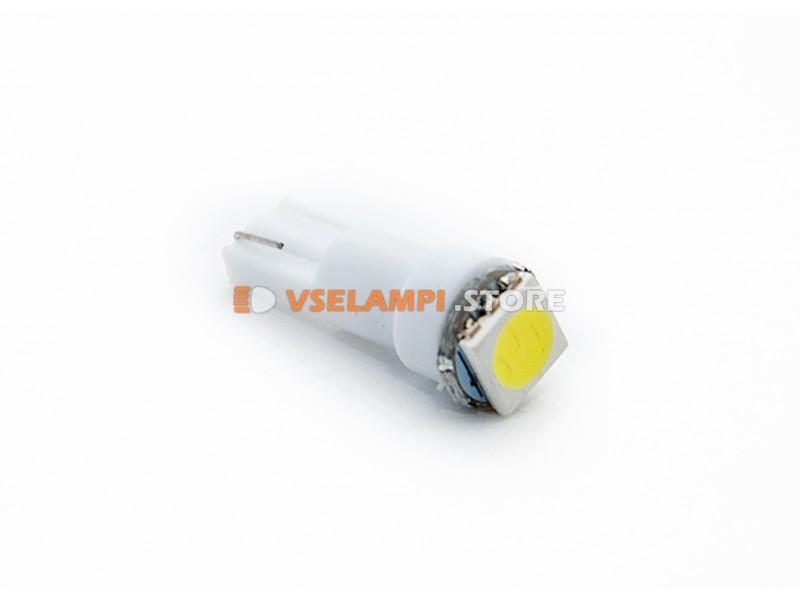 Светодиод 12v T5 1SMD 5050 3chip микрушка - цвет свечения белый