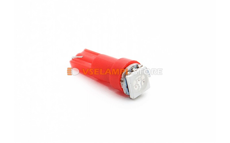 Светодиод 12v T5 1SMD 5050 3chip микрушка - цвет свечения красный
