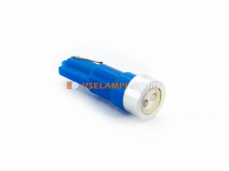 Светодиод 12vT5 1SMD PRO микрушка - цвет свечения синий
