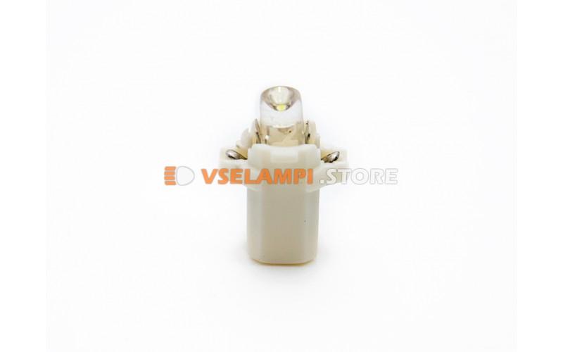 Светодиод 12vT5 BAX8,3D 1LED микрушка с патроном - цвет свечения белый