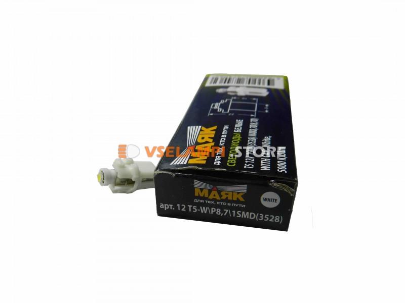 Светодиод Маяк 12v BAX8.3D 1SMD 1chip микрушка с патроном