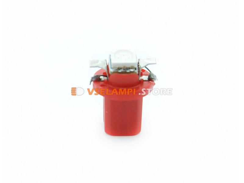 Светодиод 12v BAX8.5D EURO 1SMD 3chip ВДО микрушка с патроном - цвет свечения красный