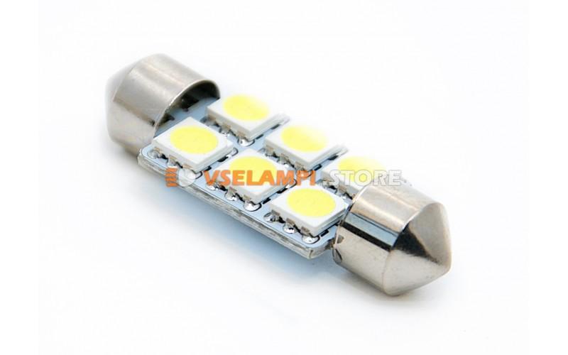 Светодиод 12vT11x36 AC 6SMD 5050 - цвет свечения белый