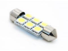 Светодиод 24vT11x36 AC 6SMD 5050 белый