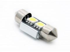 Светодиод 12v T11 31мм АС 2SMD 5050, обманка, белый