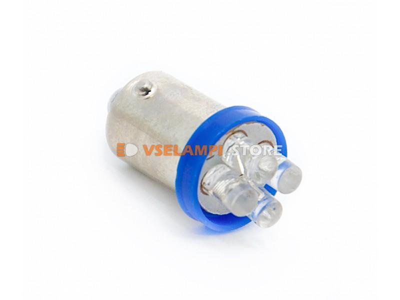 Светодиод 12v T8 4LED цок. - цвет свечения белый