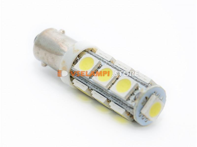 Светодиод 12v T8 13SMD 5050 - цвет свечения белый