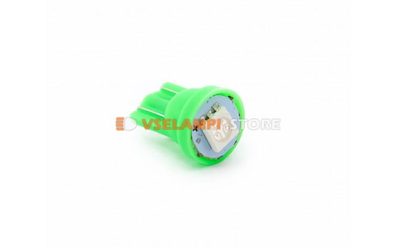 Светодиод 12v T10 1SMD 5050 - опция зелёный