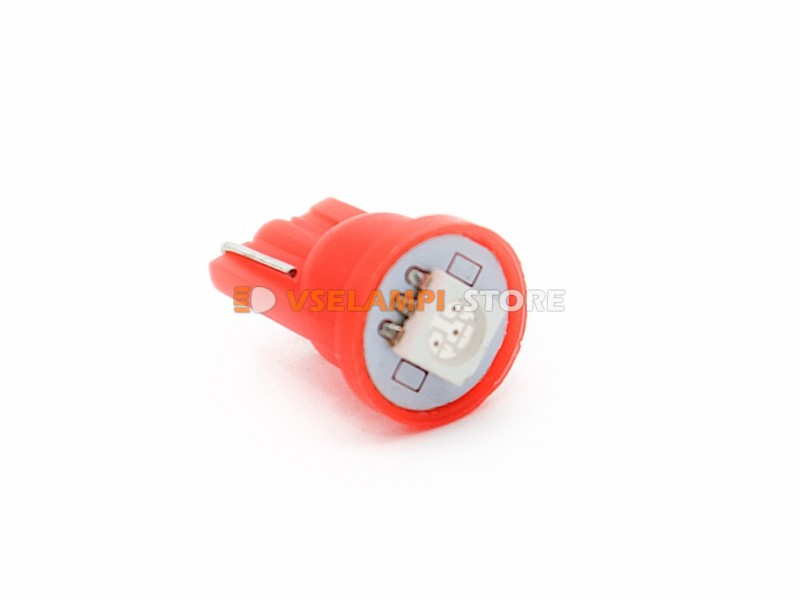 Светодиод 12v T10 1SMD 5050 - цвет свечения белый