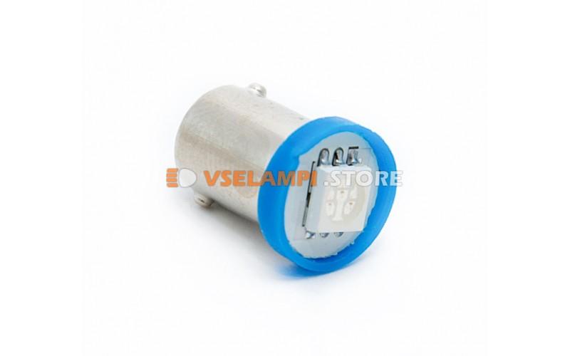 Светодиод 12v T8 1SMD 5050 цок. - цвет свечения синий