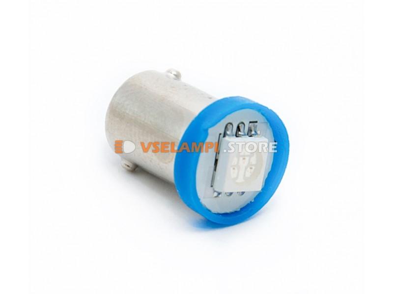 Светодиод 12v T8 1SMD 5050 цок. - цвет свечения зелёный