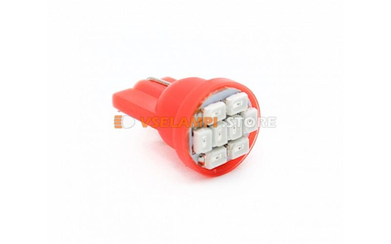Светодиод 12v T10 8SMD 3014 - опция красный