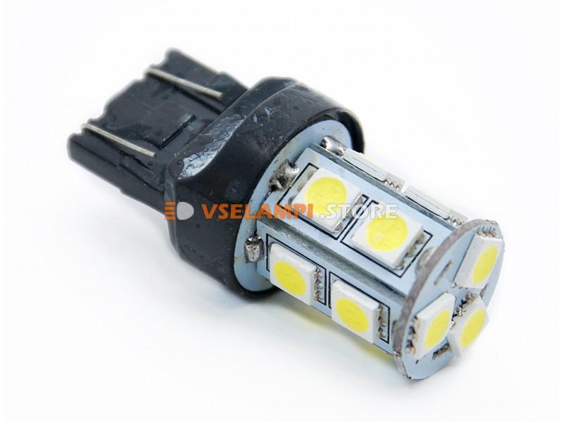 Светодиод 12vT20/5 б/ц 13SMD 2-х конт.  - цвет свечения желтый