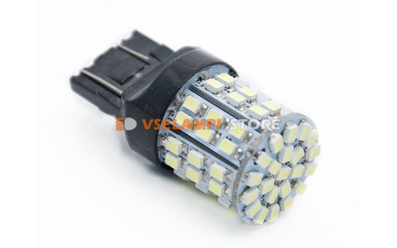 Светодиод 12vT20/5 б/ц 64SMD 2-х конт. - цвет свечения белый
