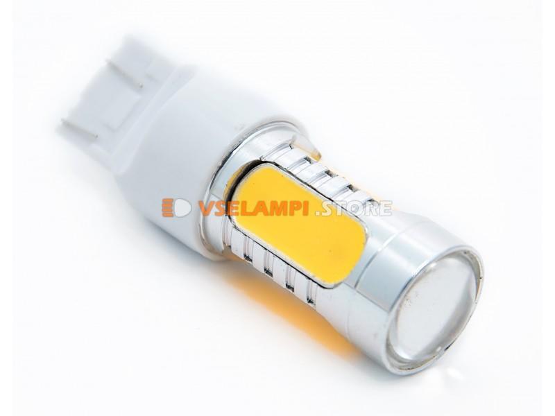 Светодиод 12vT20/5 б/ц 5G 2-х конт. - цвет свечения желтый
