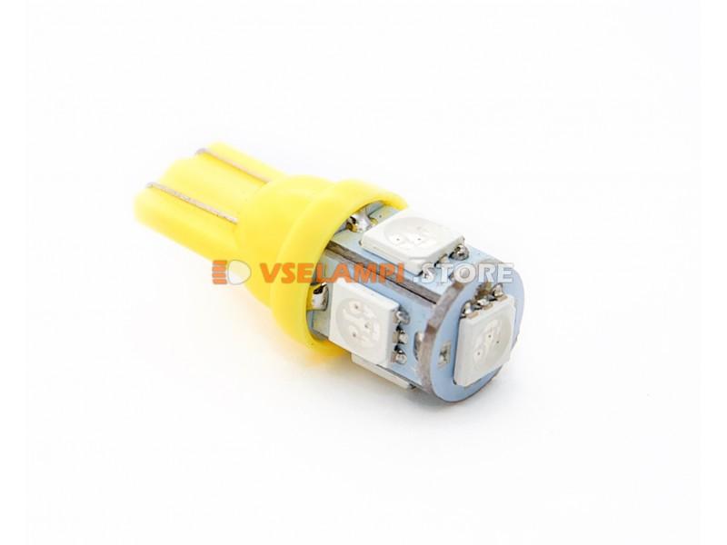 Светодиод 12v T10 5SMD 5050