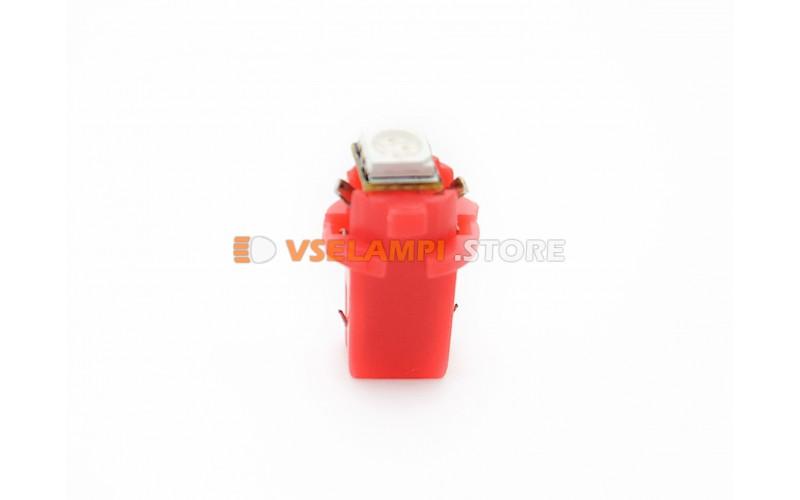 Светодиод 12vT5 BAX8,3D 1SMD 3chip микрушка с патроном - цвет свечения красный