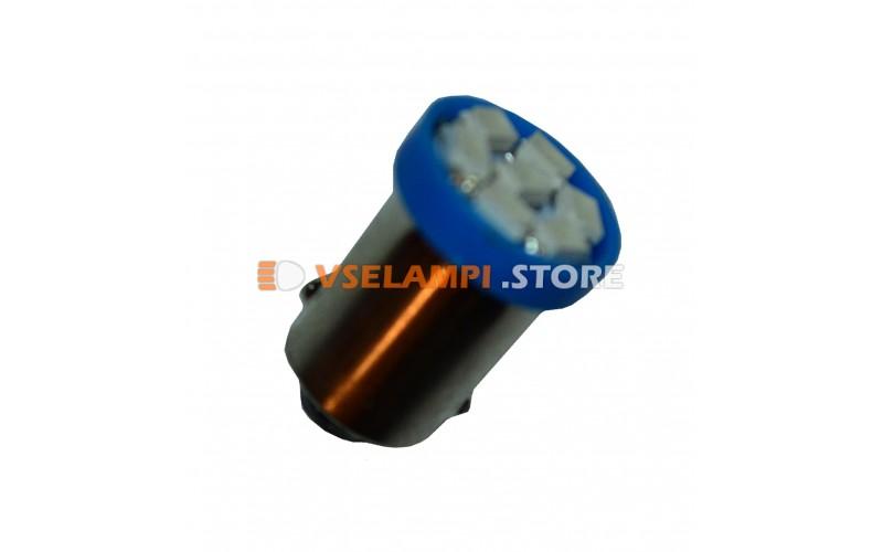 Светодиод 12v T8 8SMD 3014 цок. - цвет свечения синий