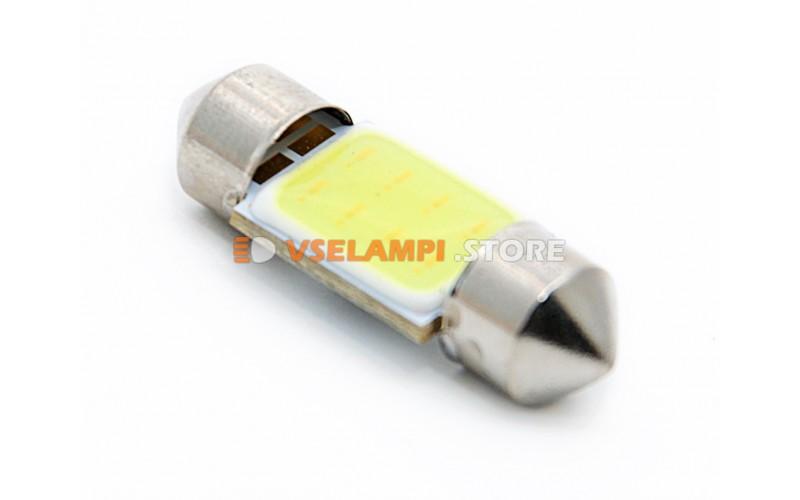Светодиод 12vT11x31 AC COB белый