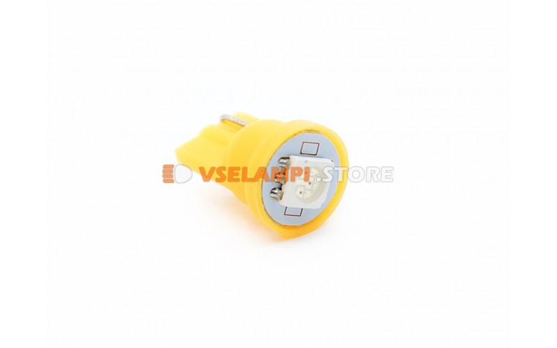 Светодиод 12v T10 1SMD 5050 - опция желтый
