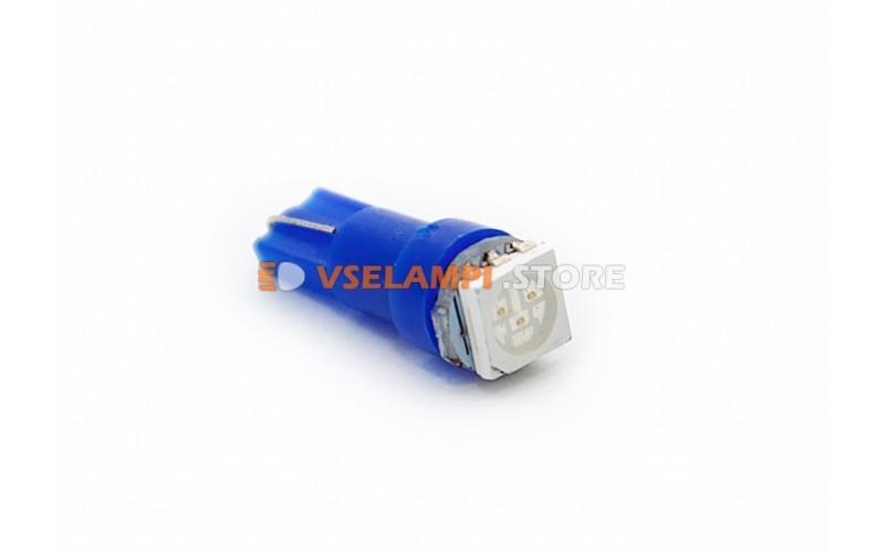Светодиод 24vT5 1SMD 3chip микрушка - цвет свечения синий