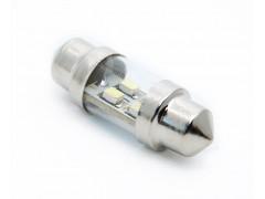 Светодиод 12vT11x31 AC 4SMD 3528 укороченная белый