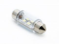 Светодиод 12v T11 36мм AC 4SMD 3528, белый