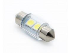 Светодиод 12vT11x31 AC 2SMD 5050 укороченная белый