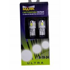 Светодиод Маяк 24vT10 6SMD б/ц 5730 ULTRA A-10 2BL белый