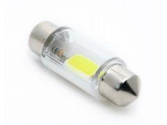 Светодиод 12v T11 36мм AC COB в стекле, белый