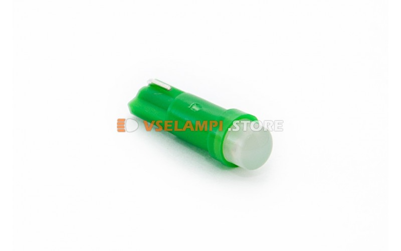 Светодиод 12vT5 COB микрушка - цвет свечения зелёный
