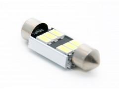 Светодиод 12v T11 36мм AC 6SMD 5630, обманка, белый