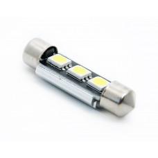 Светодиод 12vT11x41 AC 3SMD обманка удленненая белый