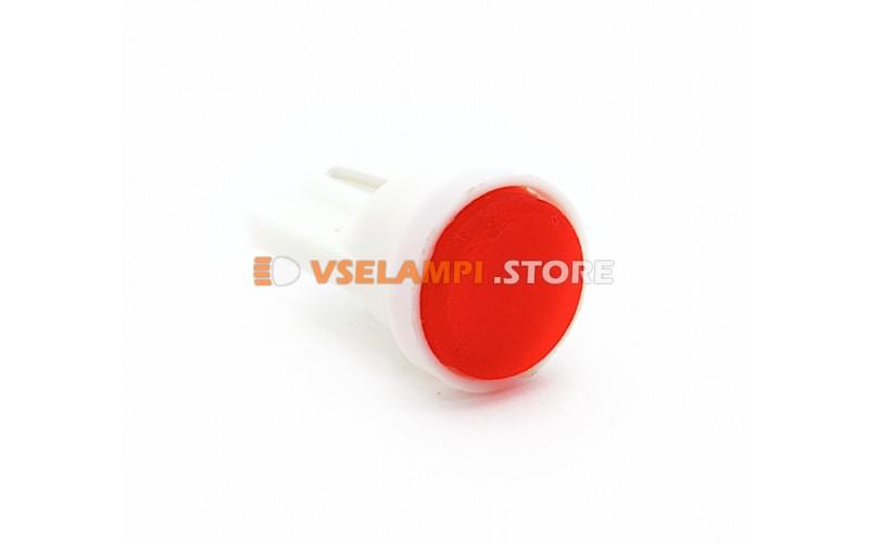 Светодиод 12v T10 COB - цвет свечения красный
