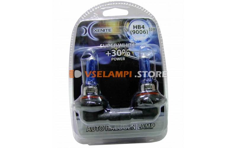 Галогенные лампы XENITE Super White +30% комплект 2шт. - цоколь HB4