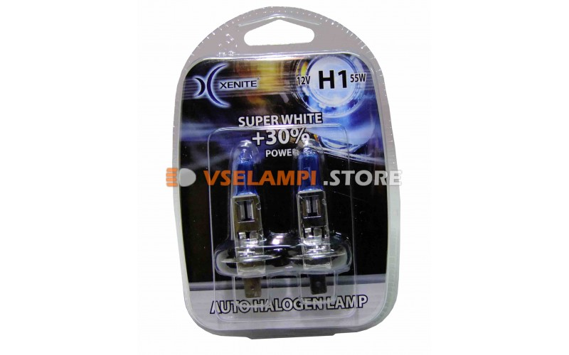 Галогенные лампы XENITE Super White +30% комплект 2шт.