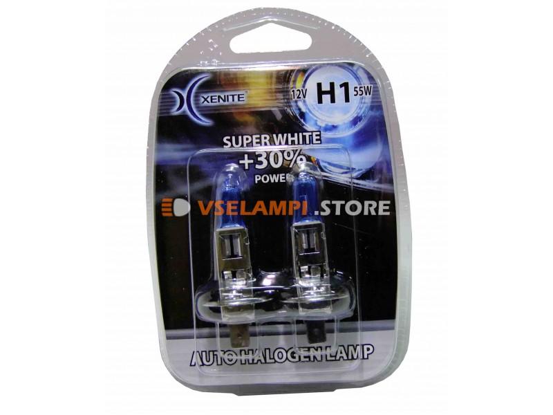 Галогенные лампы XENITE Super White +30% комплект 2шт. - цоколь H27/2