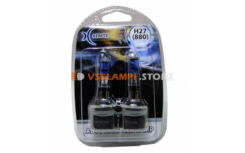 Галогенные лампы XENITE Super White +30% комплект 2шт. - цоколь H27/1