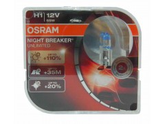 Галогенные лампы OSRAM Night Breaker UNLIMITED + 110% света - EURO BOX комплект 2шт. (остатки)