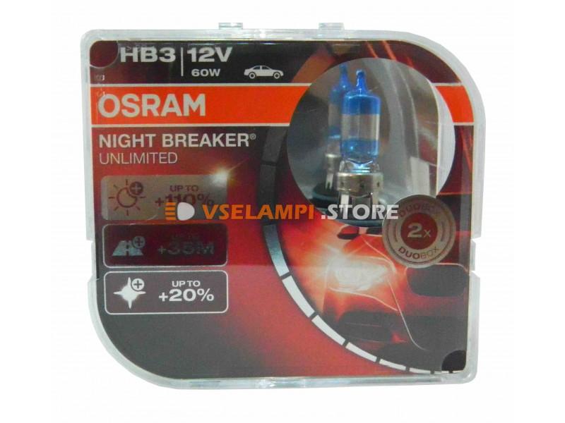 Галогенные лампы OSRAM Night Breaker UNLIMITED + 110% света - EURO BOX комплект 2шт. (остатки)