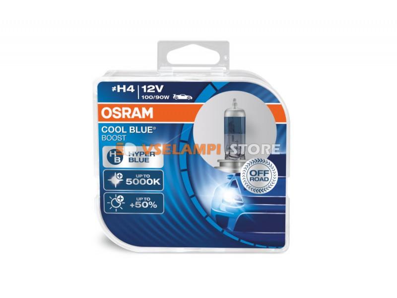 Галогенные лампы OSRAM COOL BLUE BOOST - EURO BOX комплект 2шт. - цоколь H4