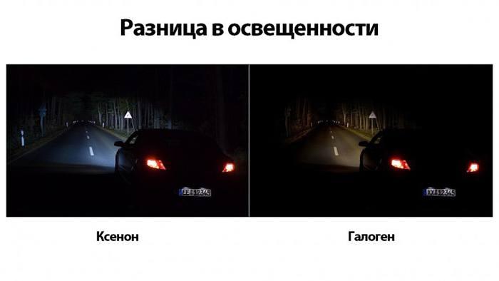 Разница между ксеноном и галогеном в освещении